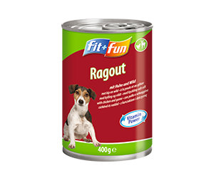 fit+fun kutya konzerveledel csirke+vad 400g