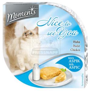 Moments tálkás cicaeledel csirke+tej aszpikban 55g