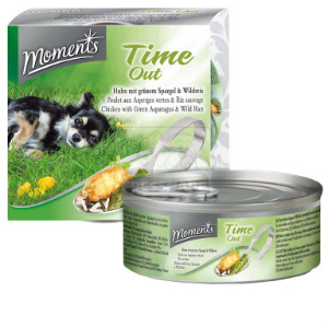 Moments Time out kutyakonzerv csirke+zöldspárga+vadrizs 125g