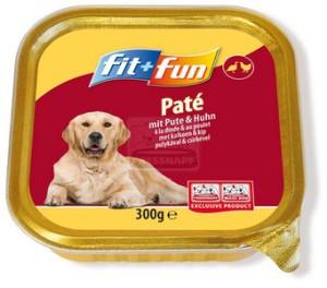 fit+fun kutya tálkás - pulykahús&csirkehús 300g