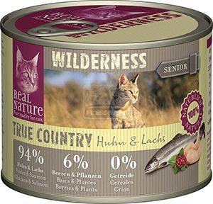Real Nature Wilderness cicakonzerv senior csirke+lazac 200g