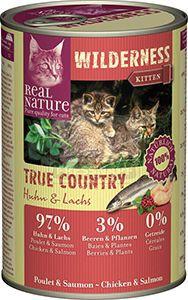 Real Nature Wilderness cicakonzerv kitten csirke+lazac 400g