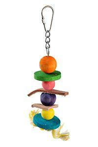 fit+fun madárjáték fa, színes golyó fűző 21 cm