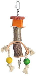 fit+fun madárjáték fa, színes golyó, farúd 27 cm