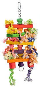 fit+fun madárjáték színes golyó torony kötelekkel 49 cm