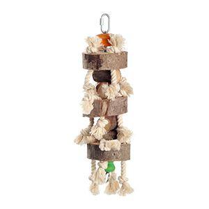 fit+fun madárjáték fadarab, kötéllel 42 cm