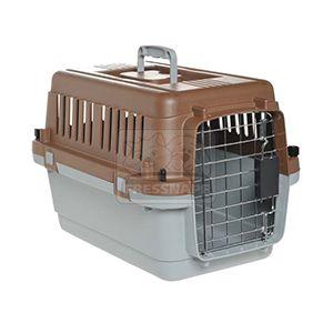 AniOne szállítóbox S barna-szürke 61x40x41 cm