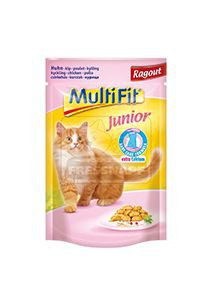 MultiFit junior cica tasakos eledel csirkeragu 100g