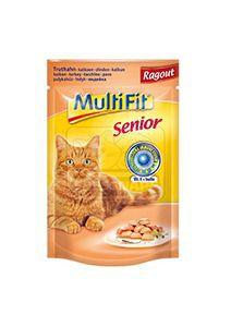 MultiFit senior cica tasakos eledel pulykaragu 100g