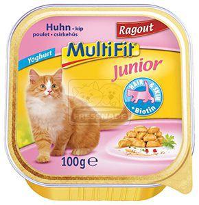 Multifit csirkeragu - junior cica tálkás eledel 100g