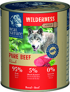 Real Nature Wilderness Pure kutyakonzerv marha 800g