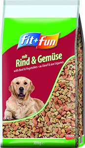 fit+fun kutya szárazeledel marha és zöldség 10kg