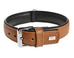 More For Dogs nyakörv Elegance szarvasbőrből barna 43-49cm