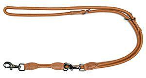 More For Dogs póráz Elegance szarvasbőrből barna 2m L-XL
