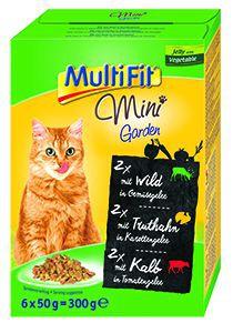 MultiFit Mini cica tasakos eledel kerti zöldségekkel 6x50g