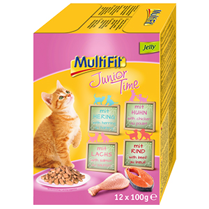 MultiFit cica tasakos eledel MultiPack 12x100g Junior Time