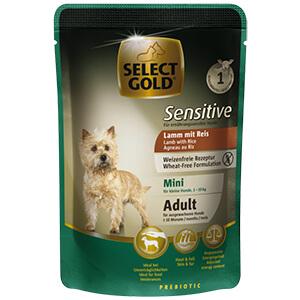 Select Gold Sensitive tasak adult mini bárány&rizs 100g