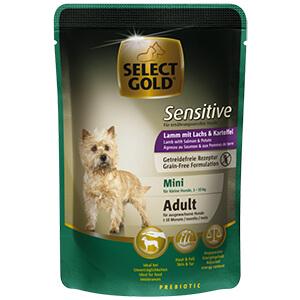 Select Gold Sensitive tasak adult mini bárány&lazac 100g