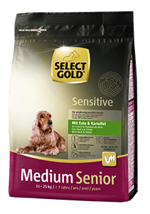 Select Gold Sens medium senior kacsa 1kg