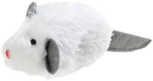 AniOne cicajáték fehér egér 9 cm