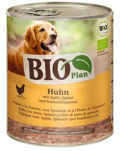 BIOPLAN konzerv adult csirke&alma 800g
